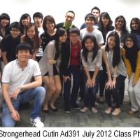 Jason Tan Strongerhead Curtin Ad391 July 2012 class photo