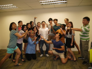 Advertising class photo with Jason Tan Lecturer