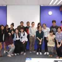 Intro to masscomm class photo with Strongerhead 3