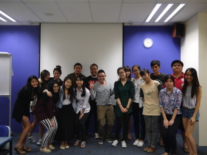 Intro to masscomm class photo with Strongerhead 3 Jun