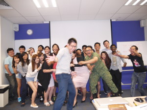 PTDipMComm19 Marketing Principles Class photo take 2 (still so naughty)