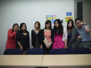 Northumbria University Marcom class (sad faces)