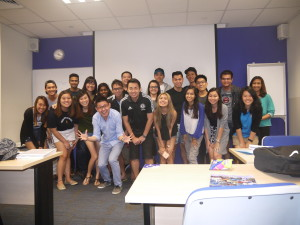 Murdoch Bridging BComm28(F) class photo with Jason Tan Lecturer