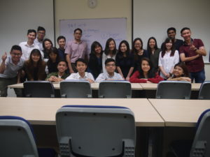 BE511 Marketing Management class photo with Jason Tan Lecturer