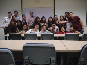 BE511 Marketing Management class photo with Jason Tan Strongerhead