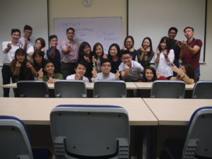 BE511 Marketing Management fun photo with Jason Tan Strongerhead